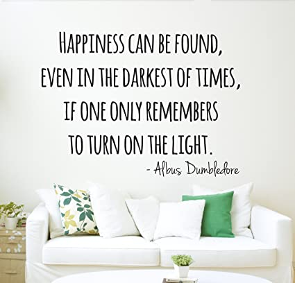 Harry Potter Wall Decal Dumbledore Quote Happiness Wall Decal - Wall Decor - Vinyl Wall Decal  sc 1 st  Amazon.com & Harry Potter Wall Decal Dumbledore Quote Happiness Wall Decal - Wall ...
