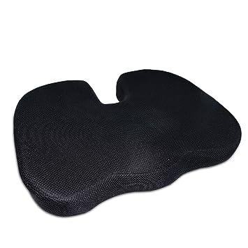 Cojín de asiento ortopédico Luxamel / Cojín de asiento ergonómico para aliviar el dolor de espalda y ...
