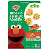 Earth's Best Organic Sesame Street Toddler Crunchin' Crackers, Veggie, 5.3 oz. Box (Pack of 6)