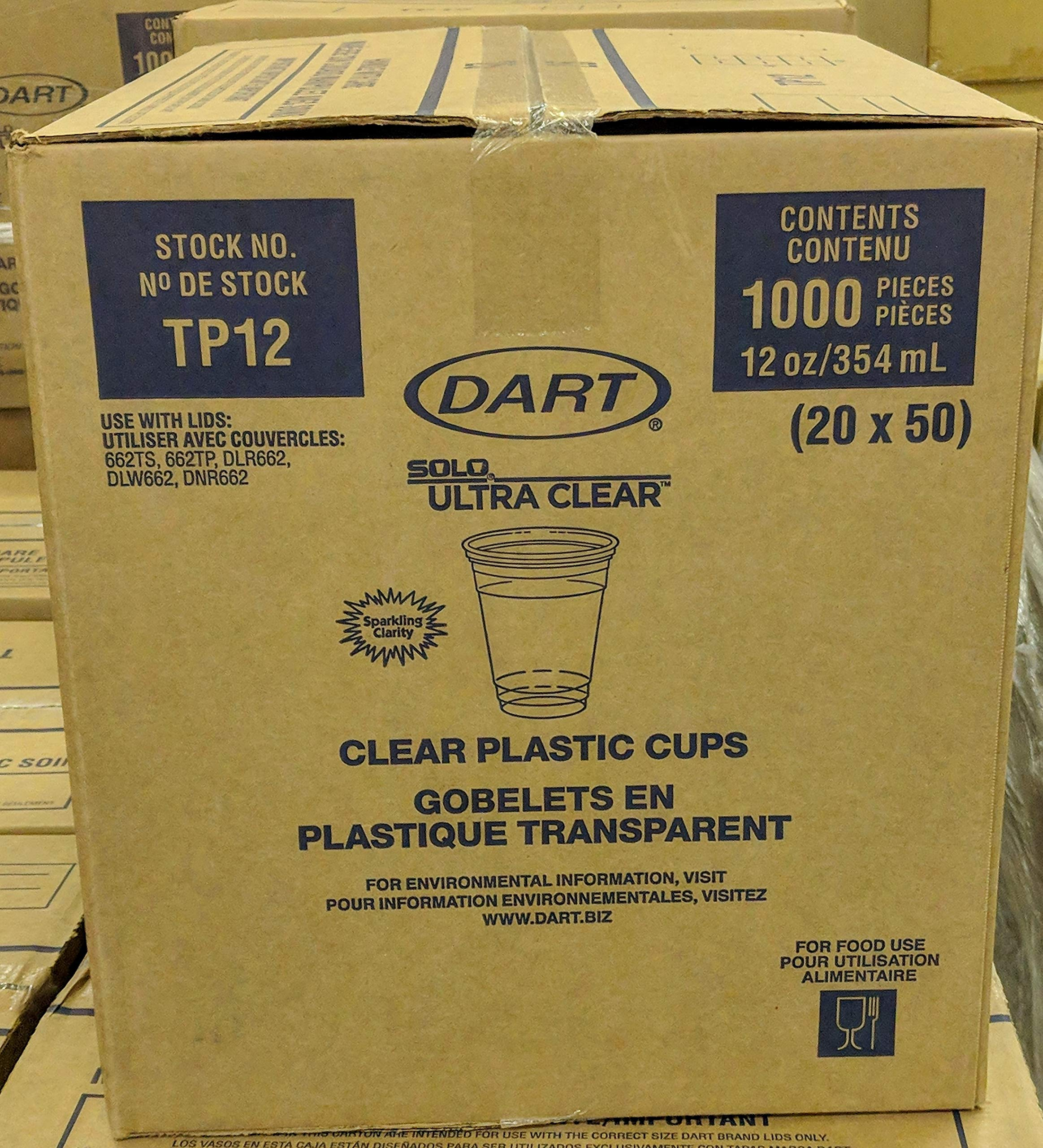SOLO TP12 Ultra Clear Pet Cold Cups 12oz (Case of 1,000)