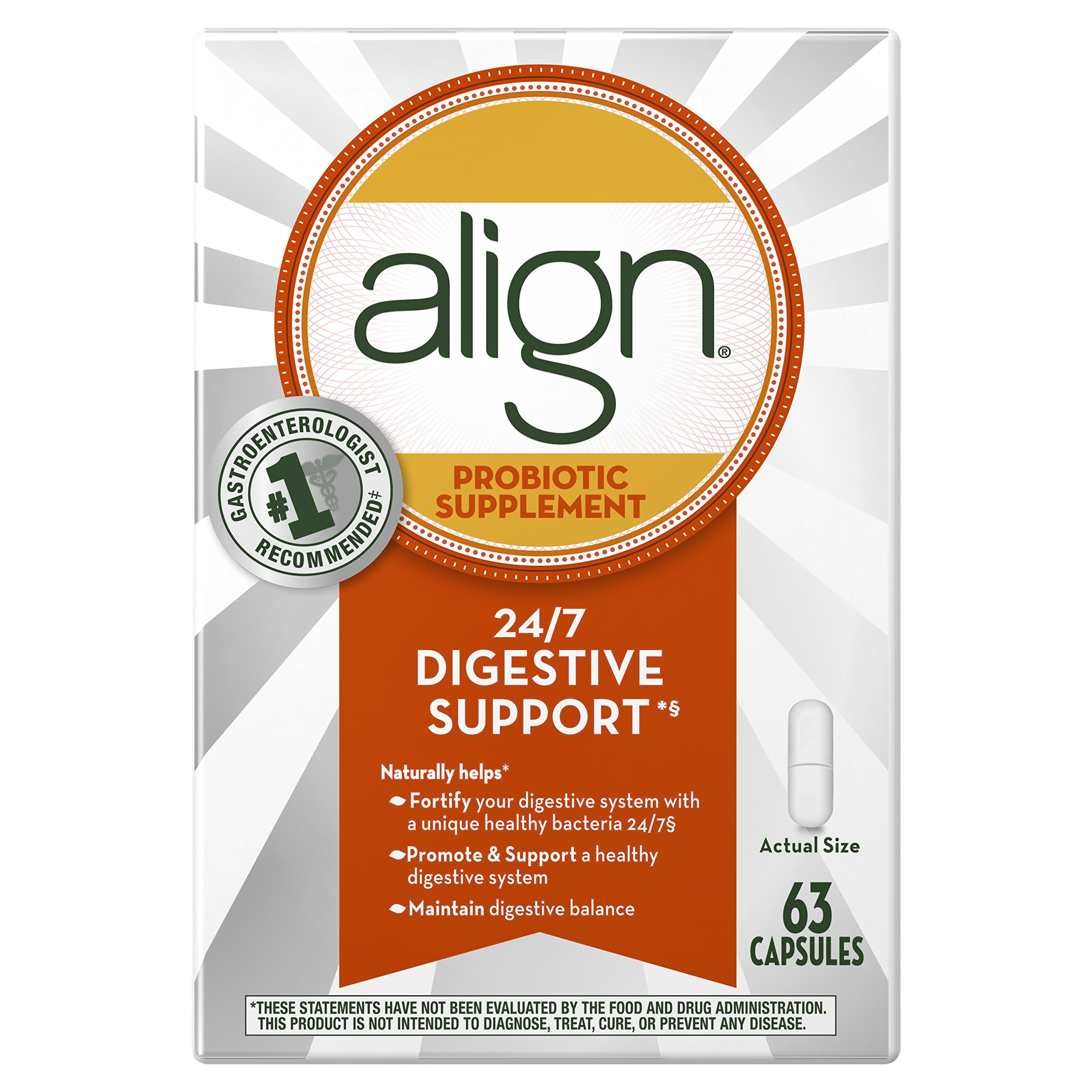 Align Probiotic Supplement Capsule 63 count (Packaging May Vary)