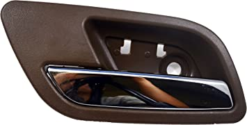 Inside Interior Inner Door Handle Cashmere Housing with Chrome Lever PT Auto Warehouse GM-2373MB-FR Passenger Side Front Brown