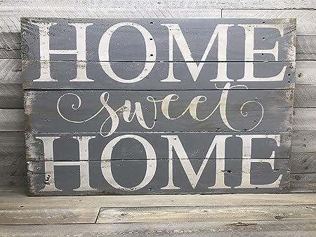 CELYCASY Home Sweet Home Cartel de Madera rústico para Pared ...