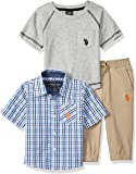 U.S. POLO ASSN. Baby Boy's T-Shirt, Sport Shirt and Pant Set Pants