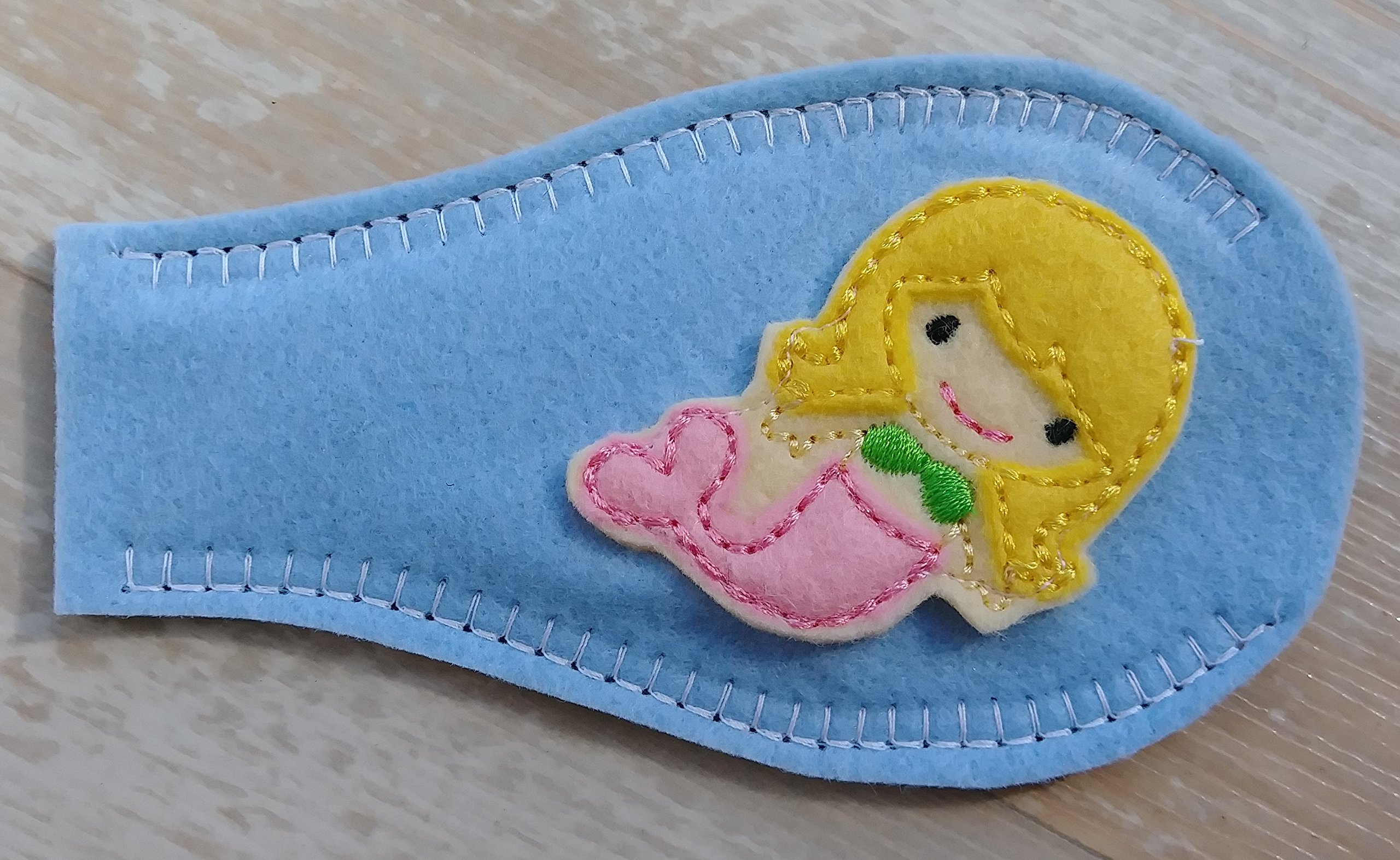 Eye Patch - Pink Mermaid (covering RIGHT eye)