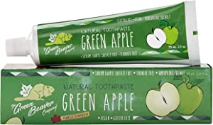 Green Beaver Fluoride Free Green Apple Toothpaste 3-Pack