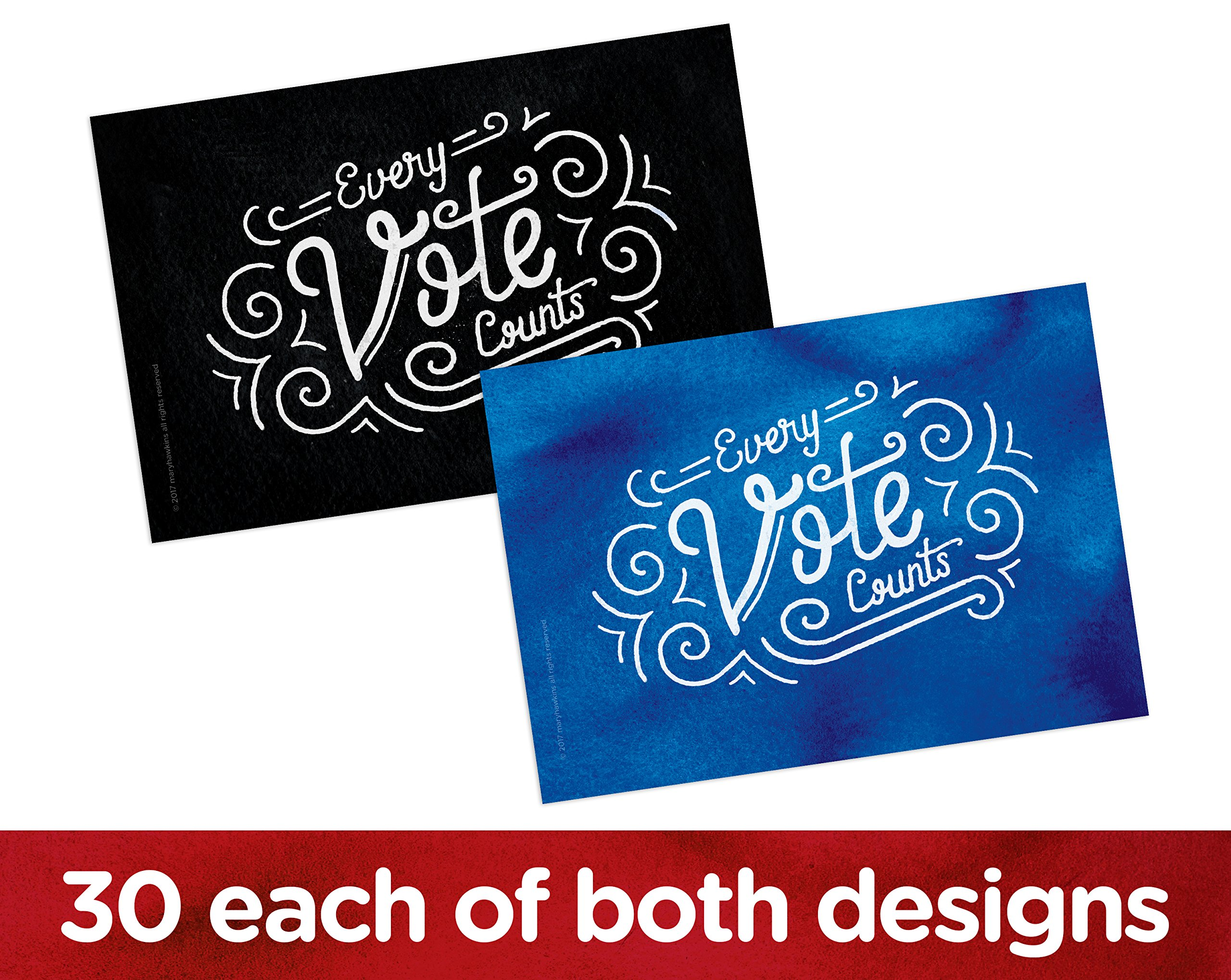 Every Vote Counts Postcards. Perfect for Writing to Your Representatives or Get Out the Vote Campaigns like Postcards to Voters