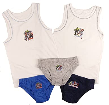 bc4d4da71 Boys Underwear Sets 3 Briefs and 2 Vests Choose Batman Avengers Star Wars   Amazon.co.uk  Clothing