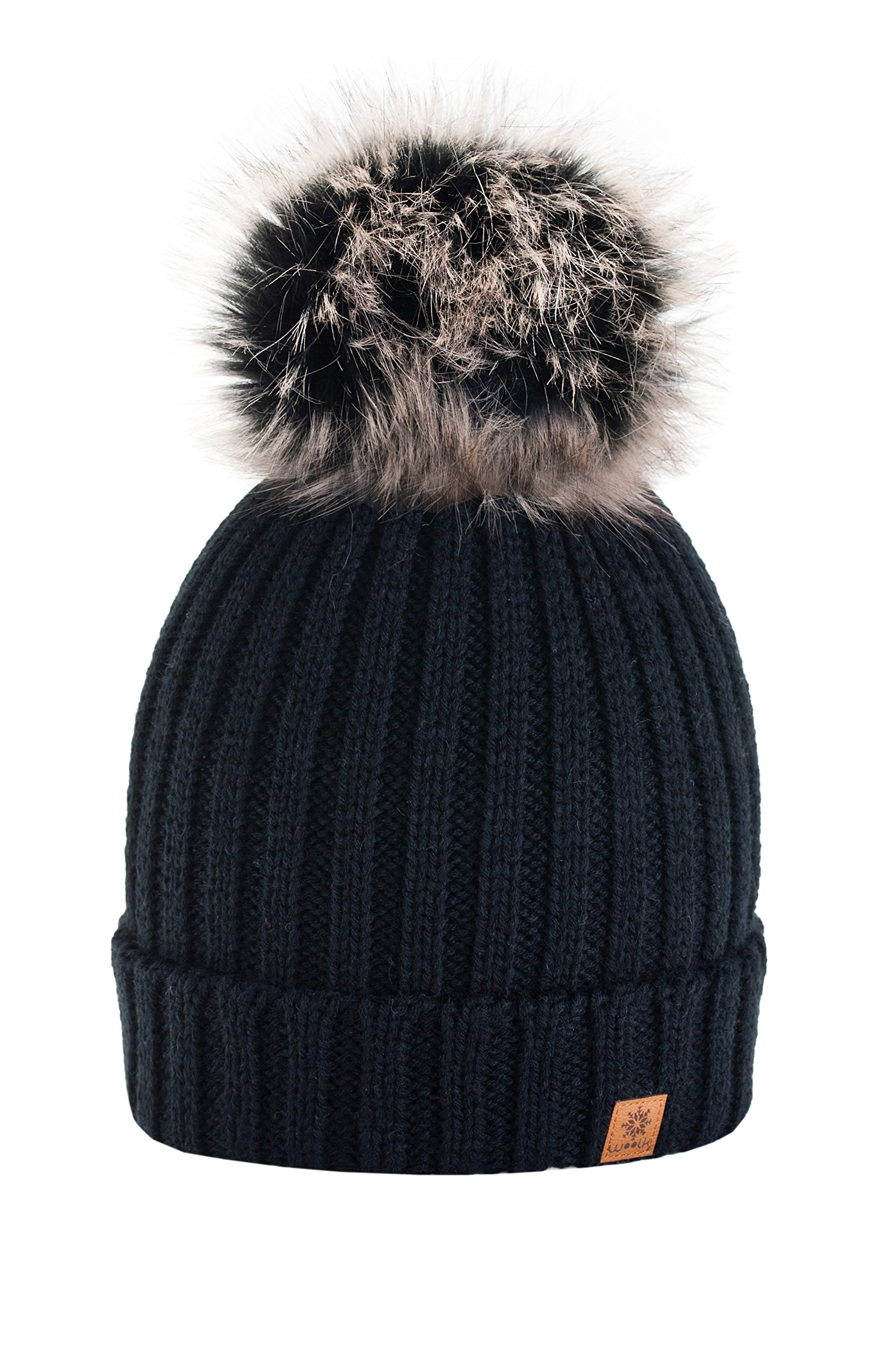 cf27a031b 4sold Rita Womens Girls Winter Hat Wool Knitted Beanie with Large Pom Pom  Cap SKI Snowboard