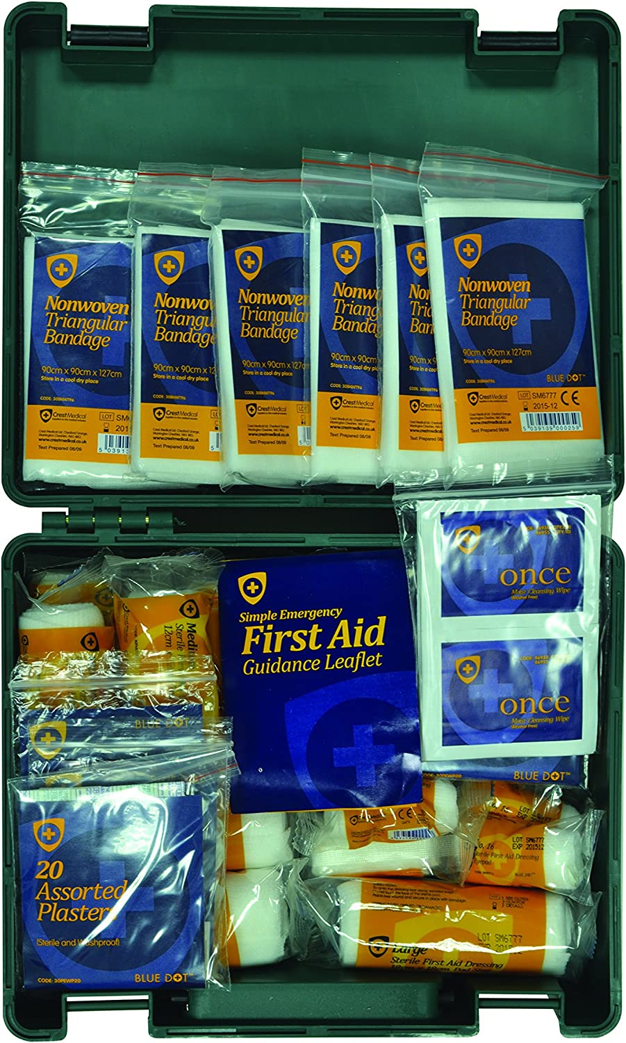 Blue Dot Standard Workplace and Statutory First Aid Kit: Health & Personal Care