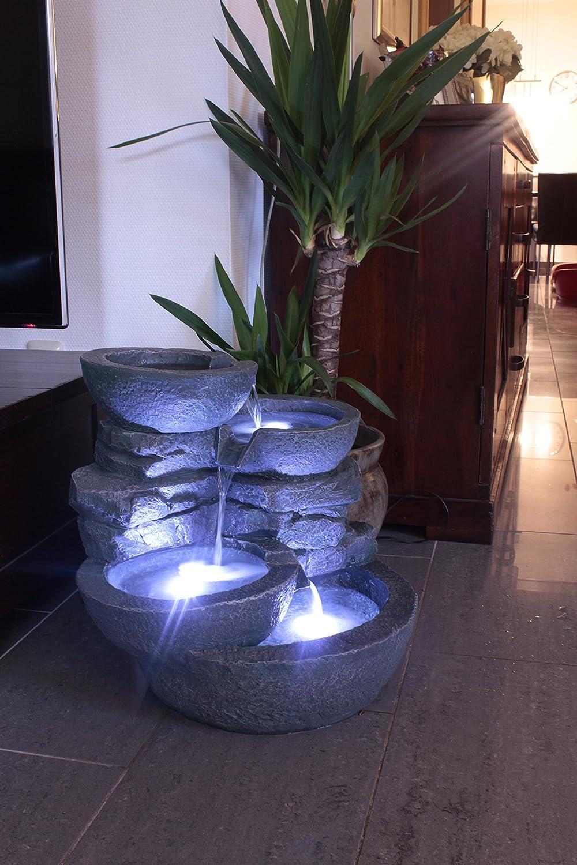 Amazon.de: Zimmerbrunnen Mit LED Beleuchtung Innen Und Außen Springbrunnen  Gartenbrunnen
