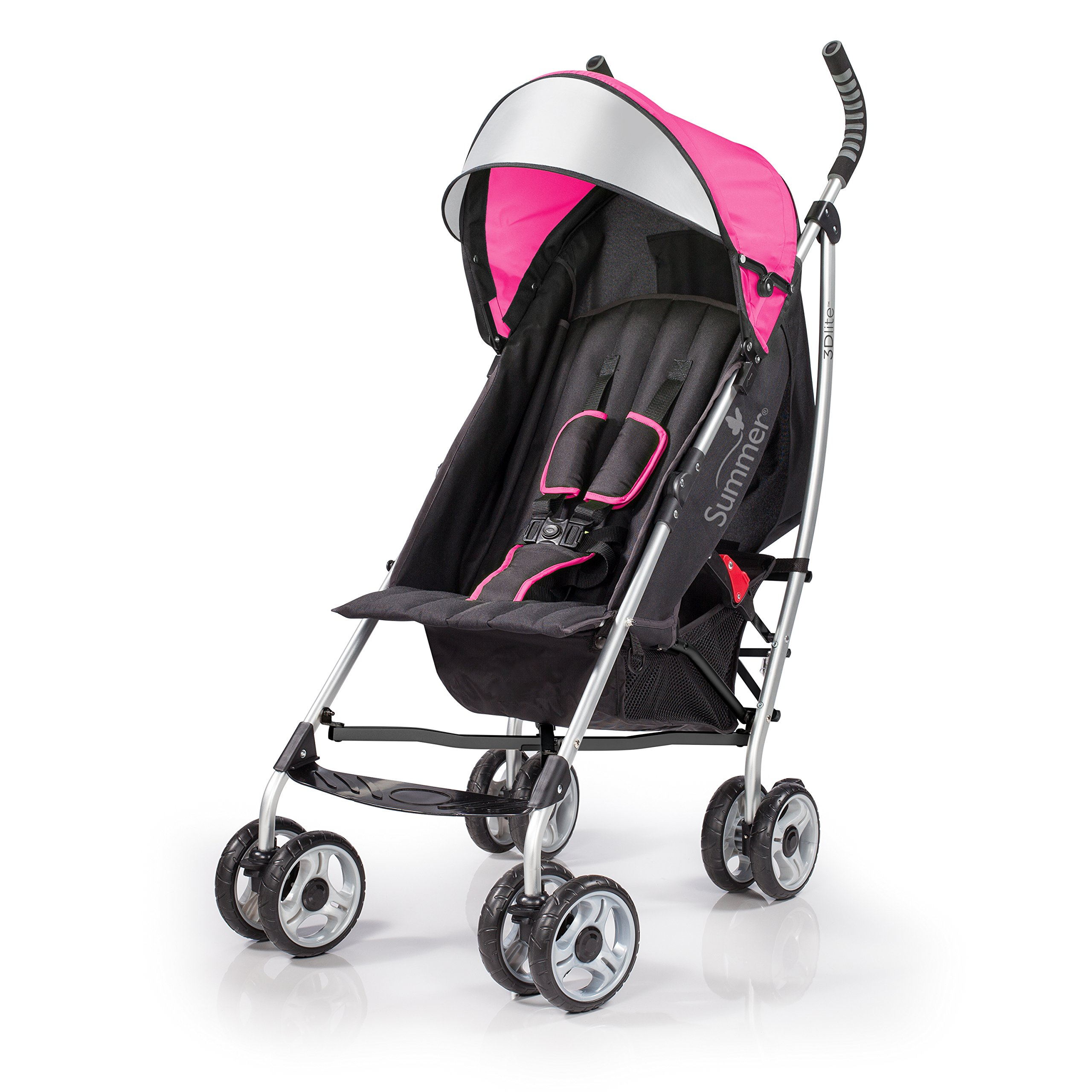 Summer Infant 3Dlite Convenience Stroller Hibiscus Pink