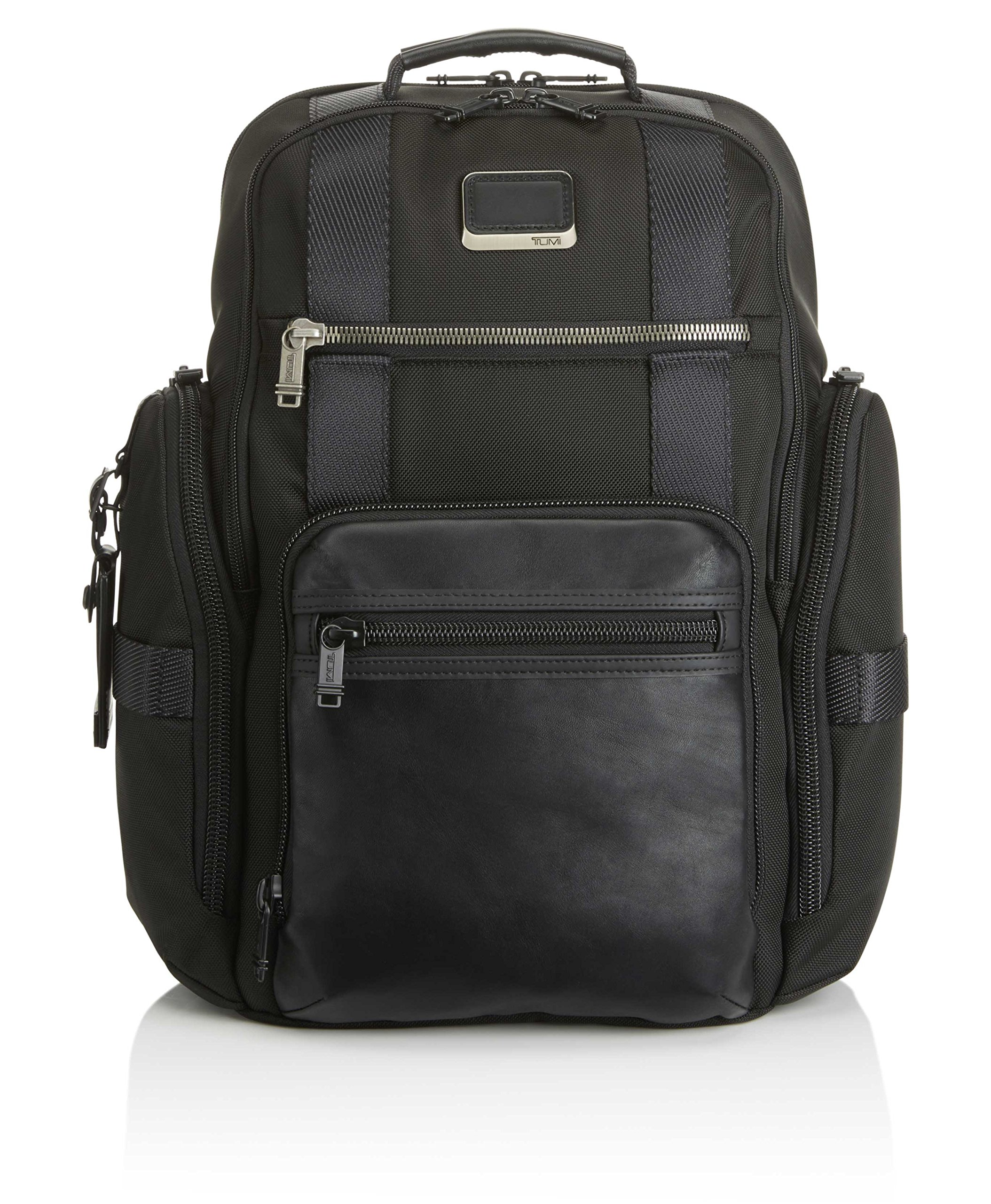 Tumi Men's Alpha Bravo Sheppard Deluxe Brief Pack Business Backpack, Black, One Size