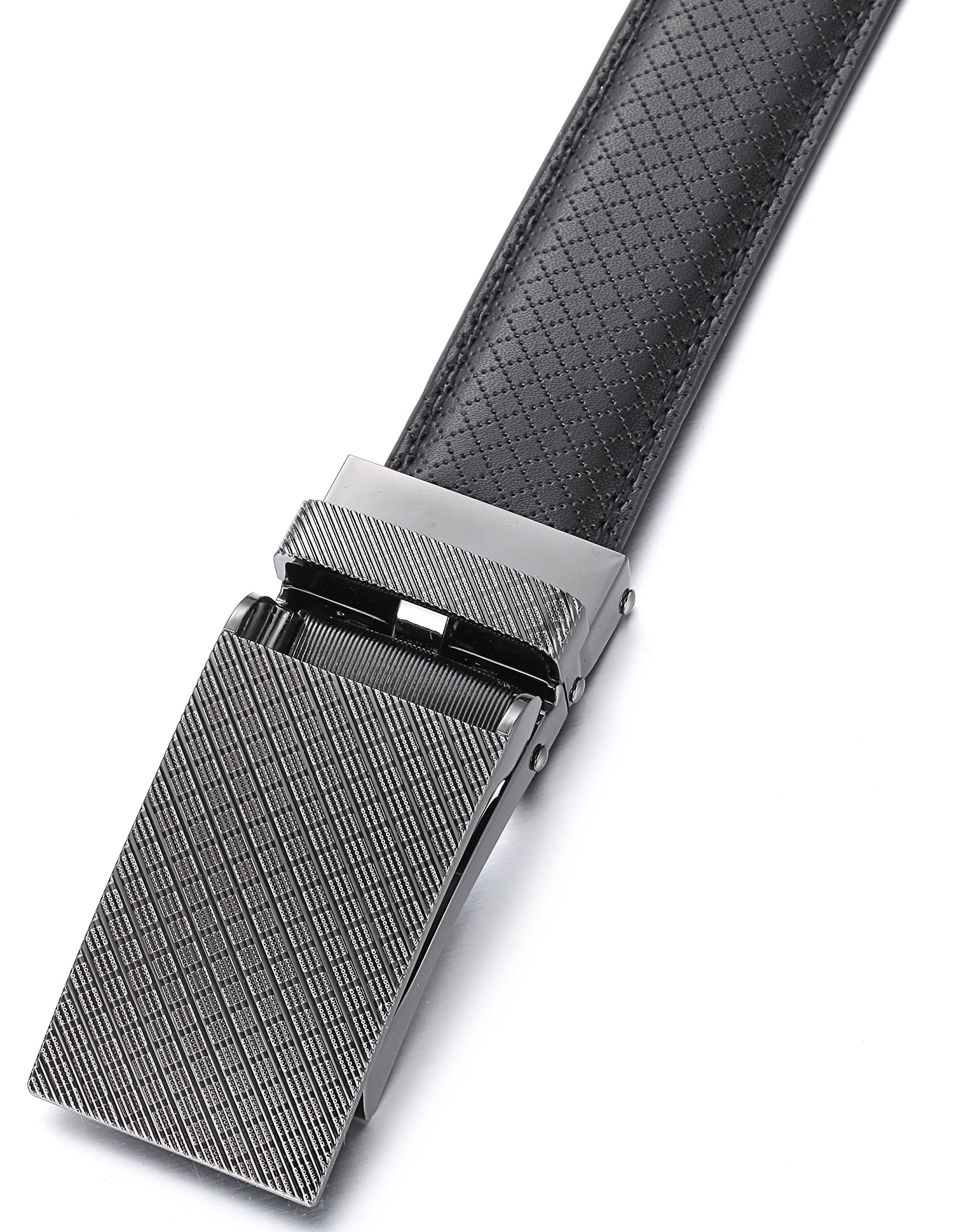 Gallery Seven Leather RatchetBelt For Men - Adjustable Click Belt - Black - Style 11 - Adjustable from 28'' to 44'' Waist by Gallery Seven (Image #3)
