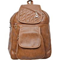 Mango Star Leather Backpack For Girls And Women