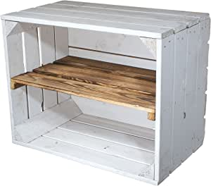 Cajón blanco de madera estante flameado, de 50 x 40 x 30 cm ...