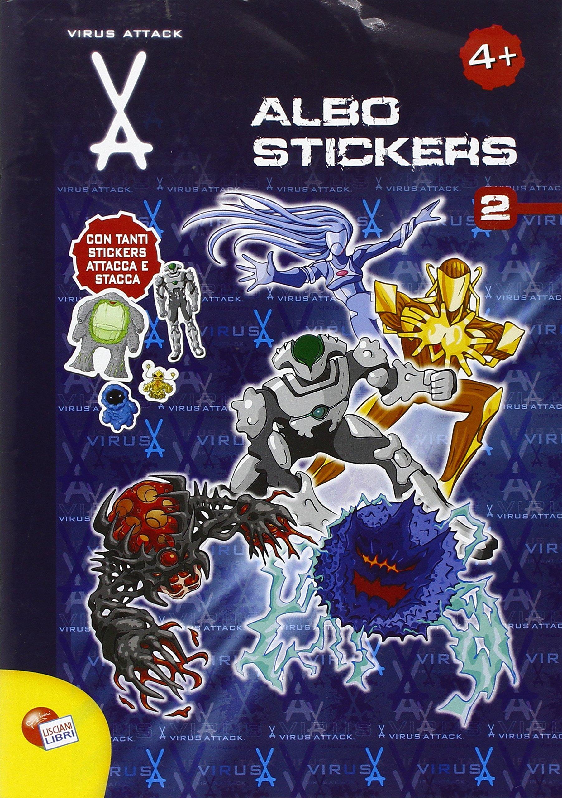 Virus attack. Albo stickers. Ediz. illustrata: 2: Amazon.es: Libros en idiomas extranjeros