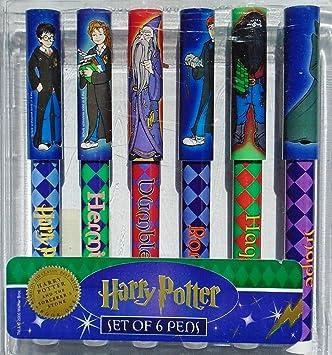 Amazon.com: Harry Potter Conjunto de seis Character plumas ...