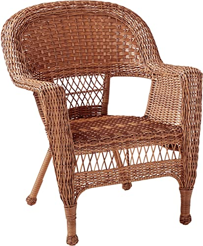 Jeco 3 Piece Wicker Chair and End Table Set without Cushion