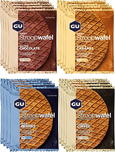GU Energy Stroopwafel Sports Nutrition Waffle, 16-Count, Assorted Flavors