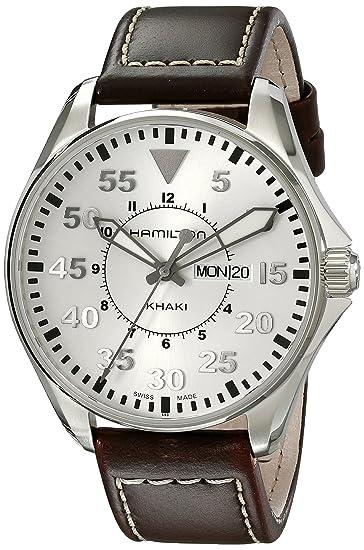Hamilton Reloj Analogico para Hombre de Cuarzo con Correa en Cuero H64611555