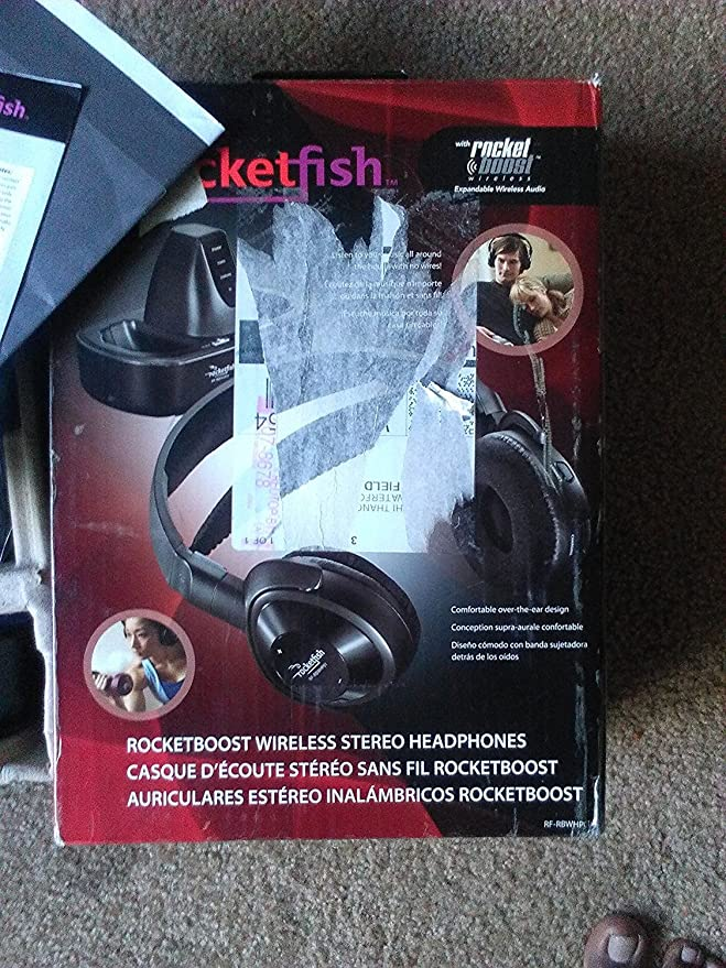 Amazon.com: Rocketfish RF-RBWHP01 Rocketboost Wireless Stereo Headphones: Home Audio & Theater