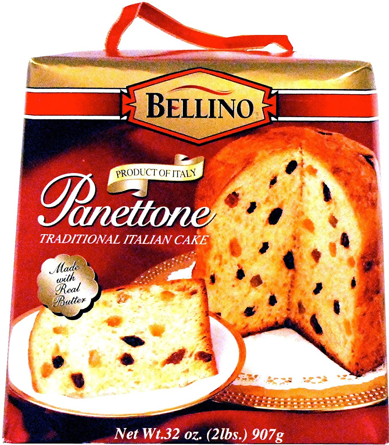 Com Bellino Panettone Cake 2 Pound Bo Pack Of Grocery Gourmet Food