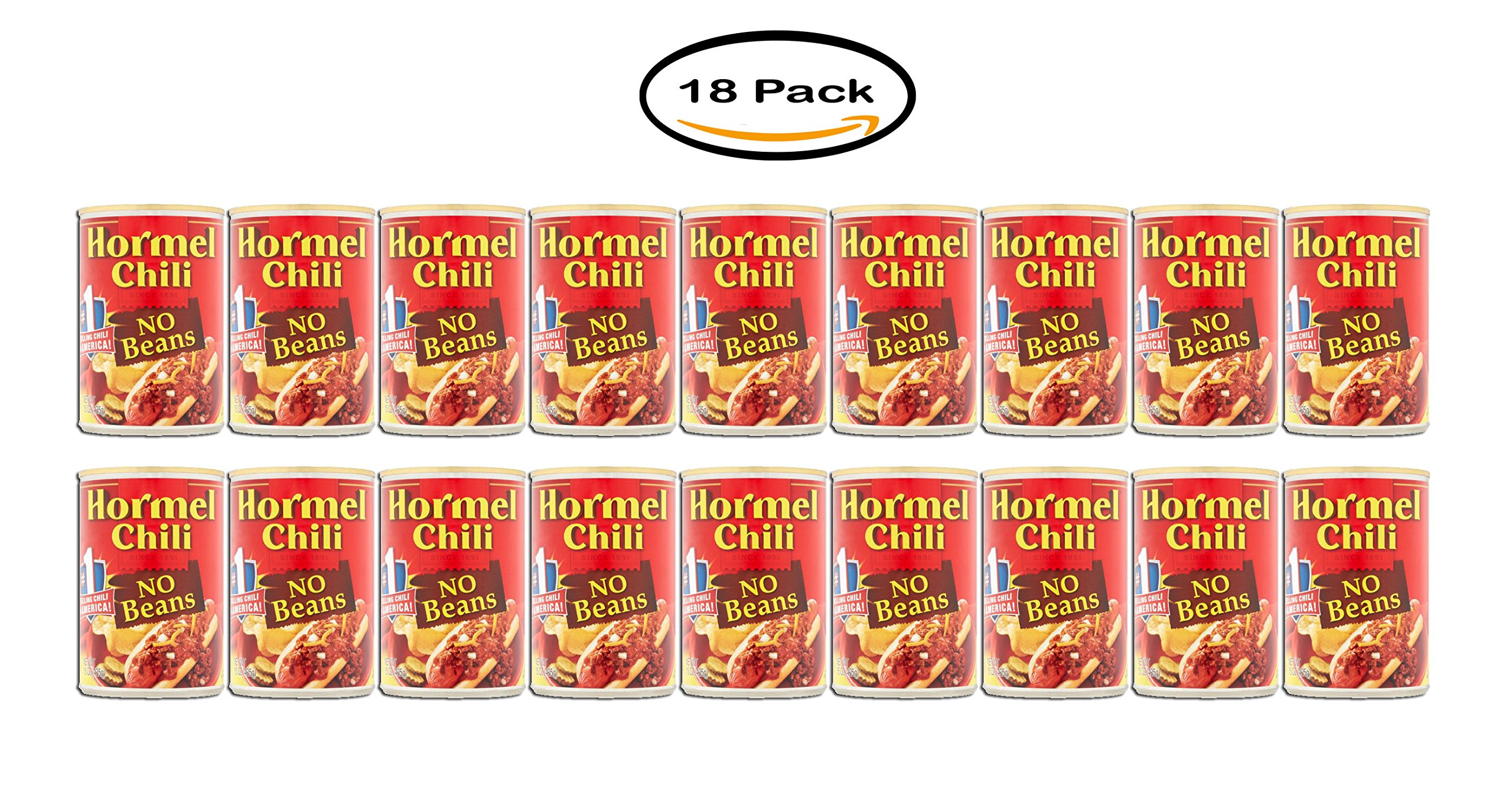 Pack of 18 - Hormel No Beans Chili, 15 oz by Hormel