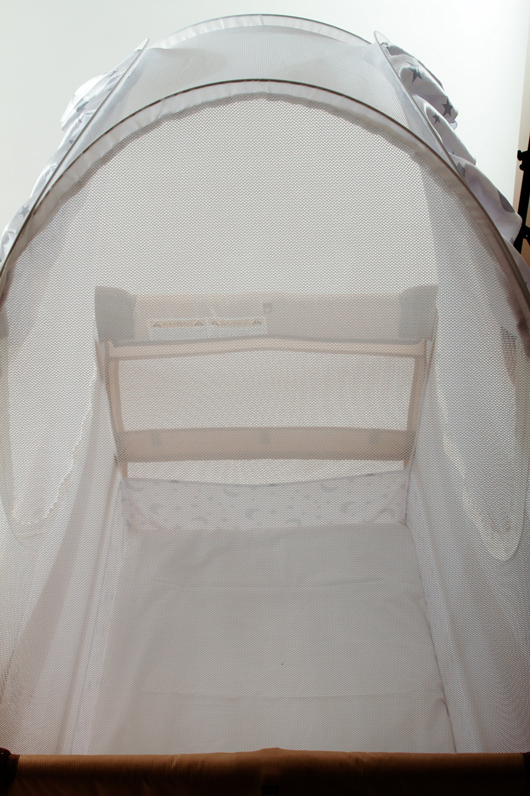 Best Travel Baby Crib Safety Tent Fits Pack N Play Tried and Tested - Safe and Secure - Proven to Keep Your Baby Safe from Climbing Out. Finest Quality Original Australian Design Pop Up Crib Canopy