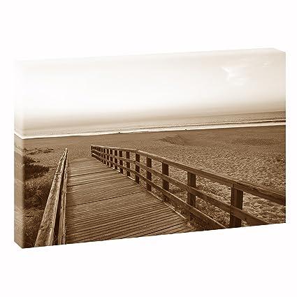 Puente al mar | v1720480 | imágenes sobre lienzo | pared Imagen en formato XXL |