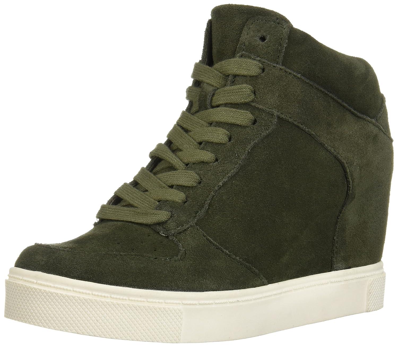 Steve Madden Women's Noah Sneaker B07D3LR49S 7.5 B(M) US|Olive Suede