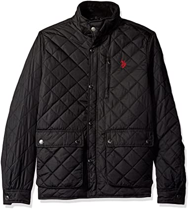 US Polo Assn. Mens Diamond-Quilted Jacket