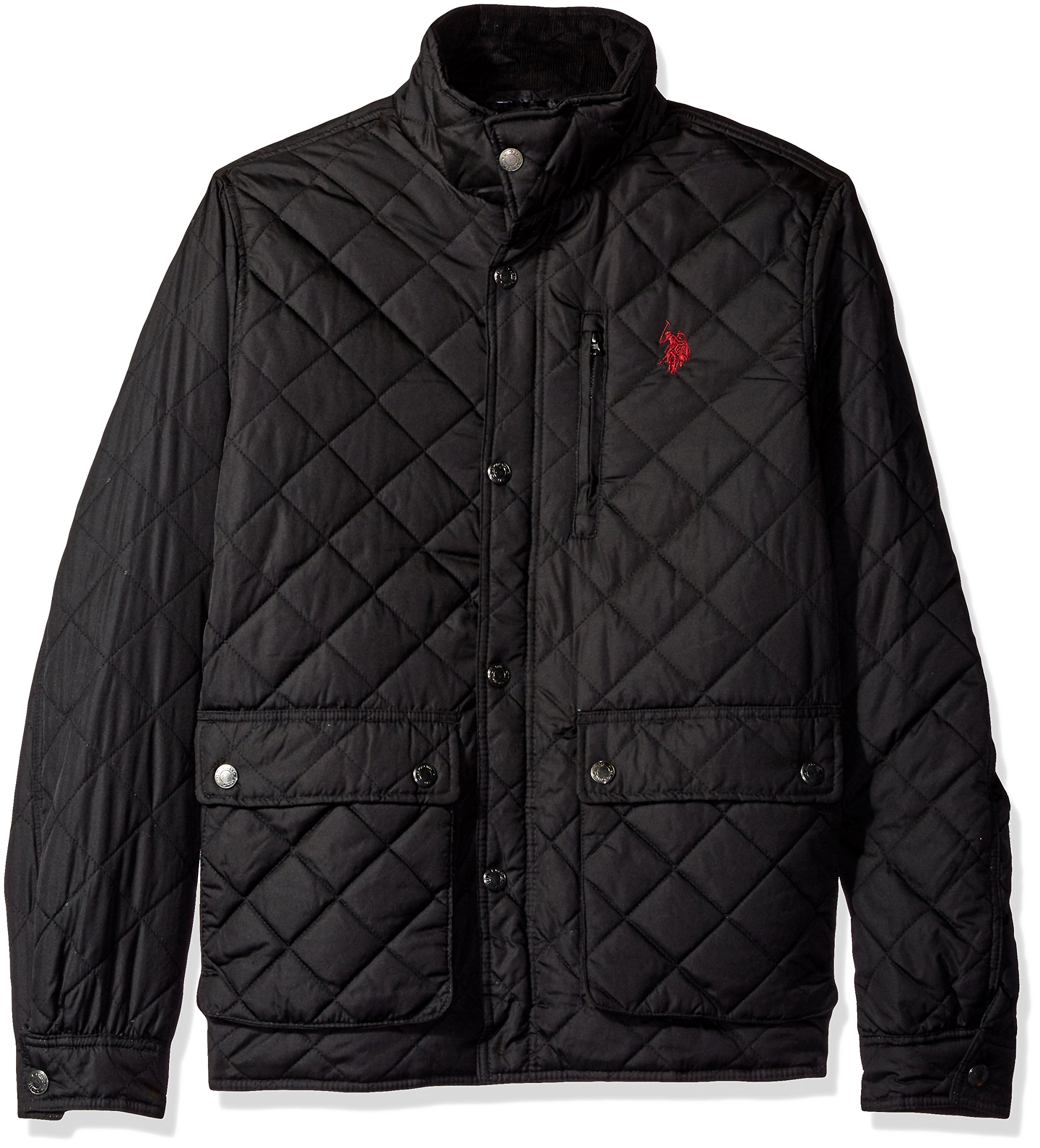 U.S. Polo Assn. Men's Diamond Quilted Jacket, Black, X-Large