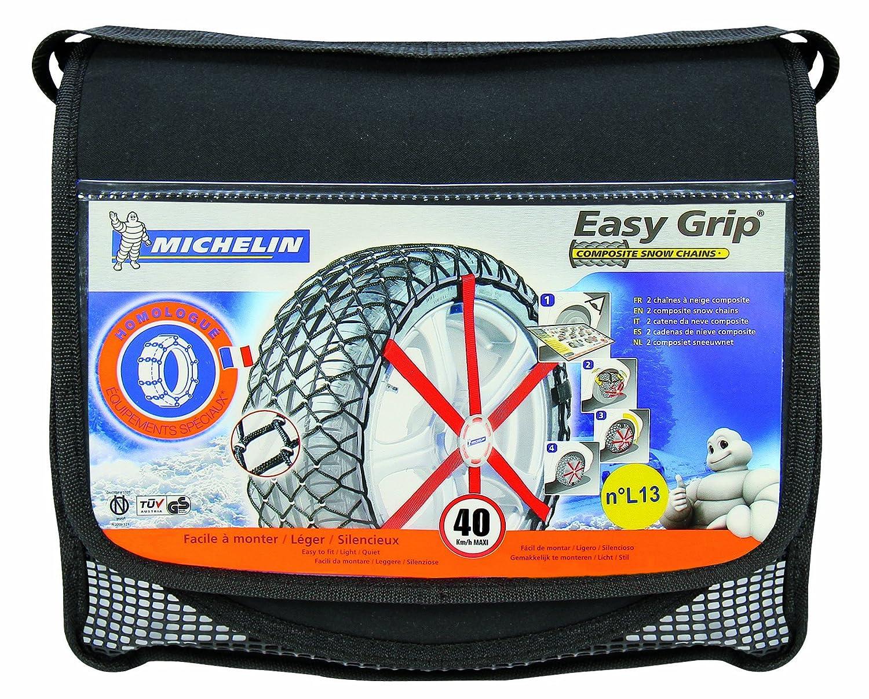 Michelin 92305 Cadenas de nieve de tela para coche (compatible con ABS y ESP, certificado TÜV/GS y ÖNORM), Easy Grip R12, 2 piezas: Amazon.es: Coche y moto