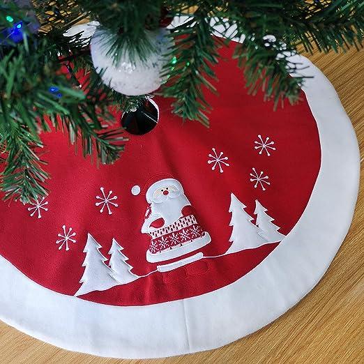 Athoinsu - Falda navideña (90 cm), diseño de muñeco de Nieve ...