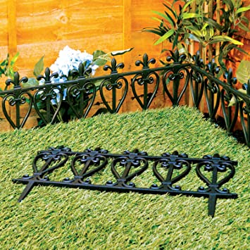 Victorian Style Black Fencing Garden Edging Ornate Fence Border