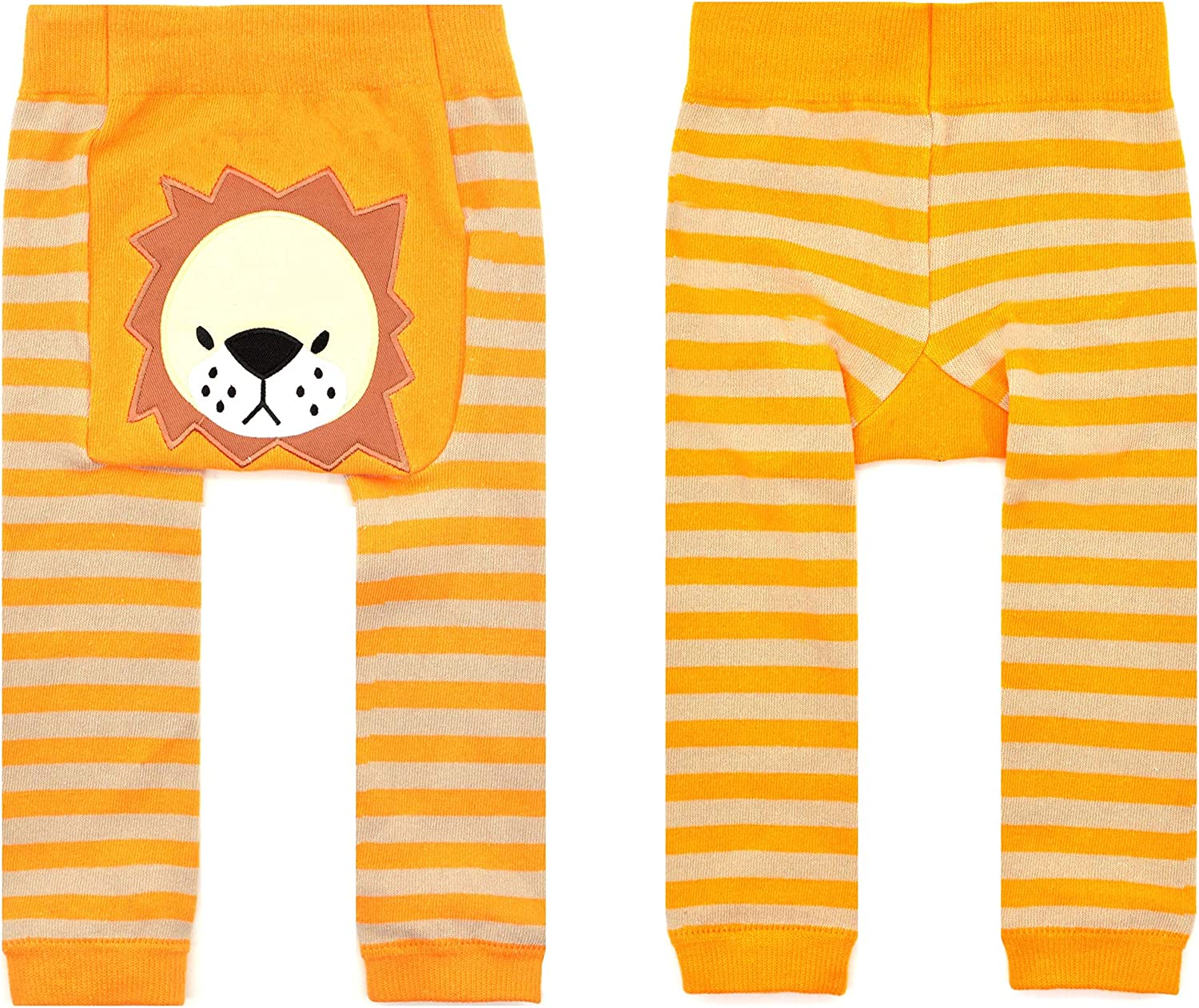 Amazon Com Piero Liventi Baby Boogie Tights Baby Leggings Baby Lion 1 Pair 6 12m Yellow Brown Clothing