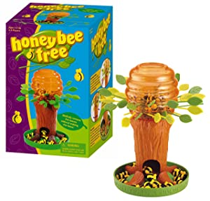 Game Zone Honey Bee Tree Game – Please Don't Wake the Bees – 2 to 4 Players, Ages 3 and Up