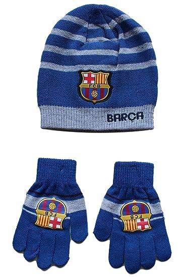 bonnet gant enfant FC Barcelone Barça Messi Suarez Article sous licence  officielle 3d23591ff05