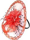 Boutique Disque rouge fleur serre-tête Bibi mariage Accessoires cheveux