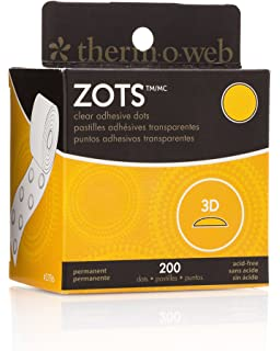 """ThermOweb ZOTS Clear Permanent Adhesive Dots LARGE 1//2/"""" 250 Count FREE SHIPPING!"""