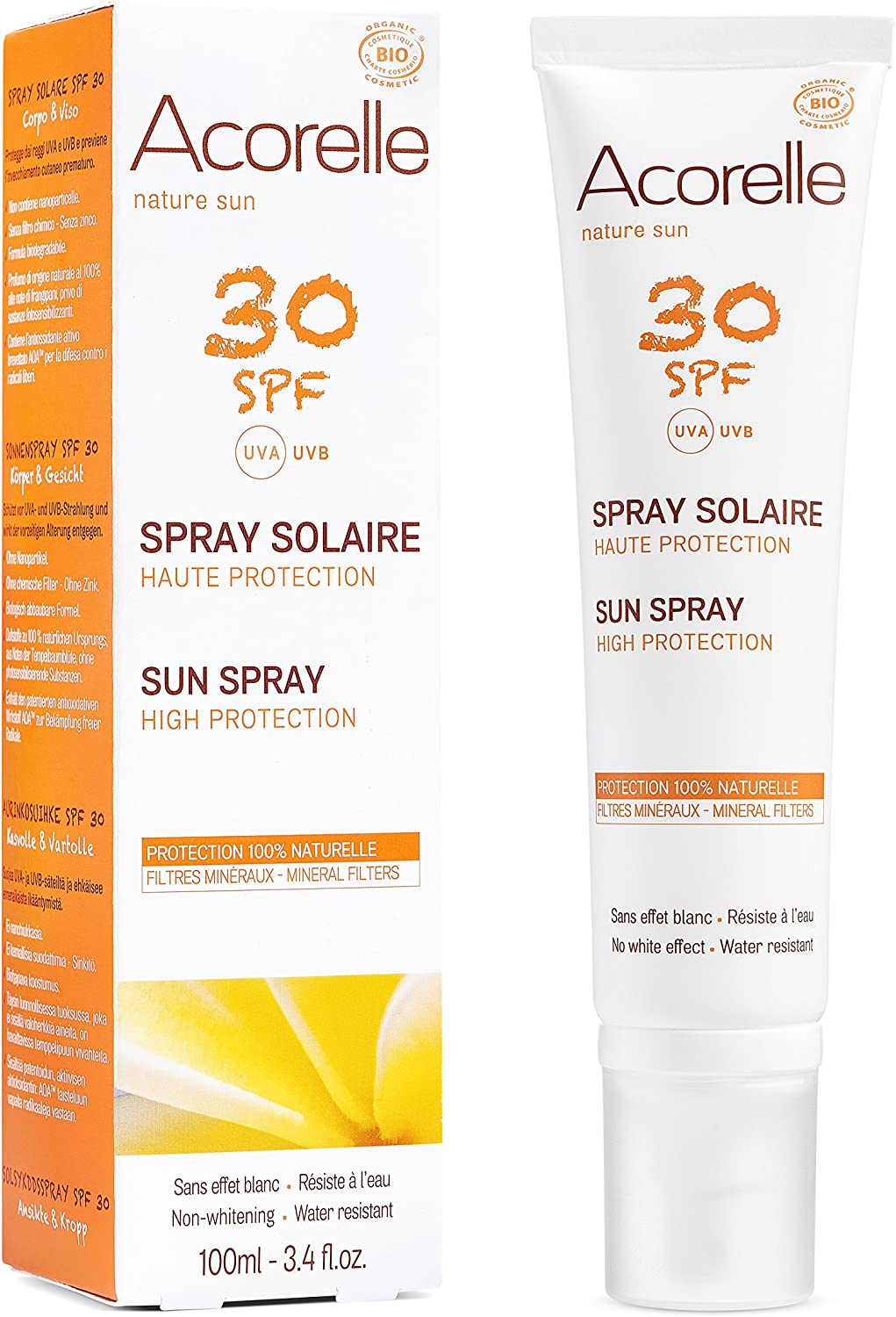 Acorelle Spray Solar Spf 30 100Ml Acorelle 500 g: Amazon.es: Belleza