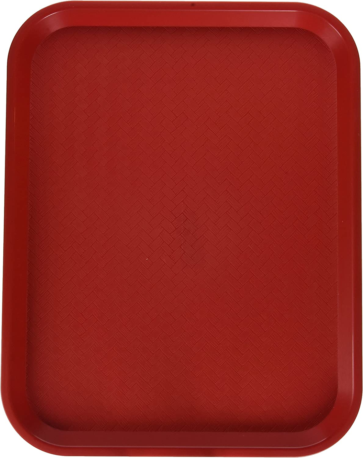 Winco Fast Food Tray, 14 by 18-Inch, Red