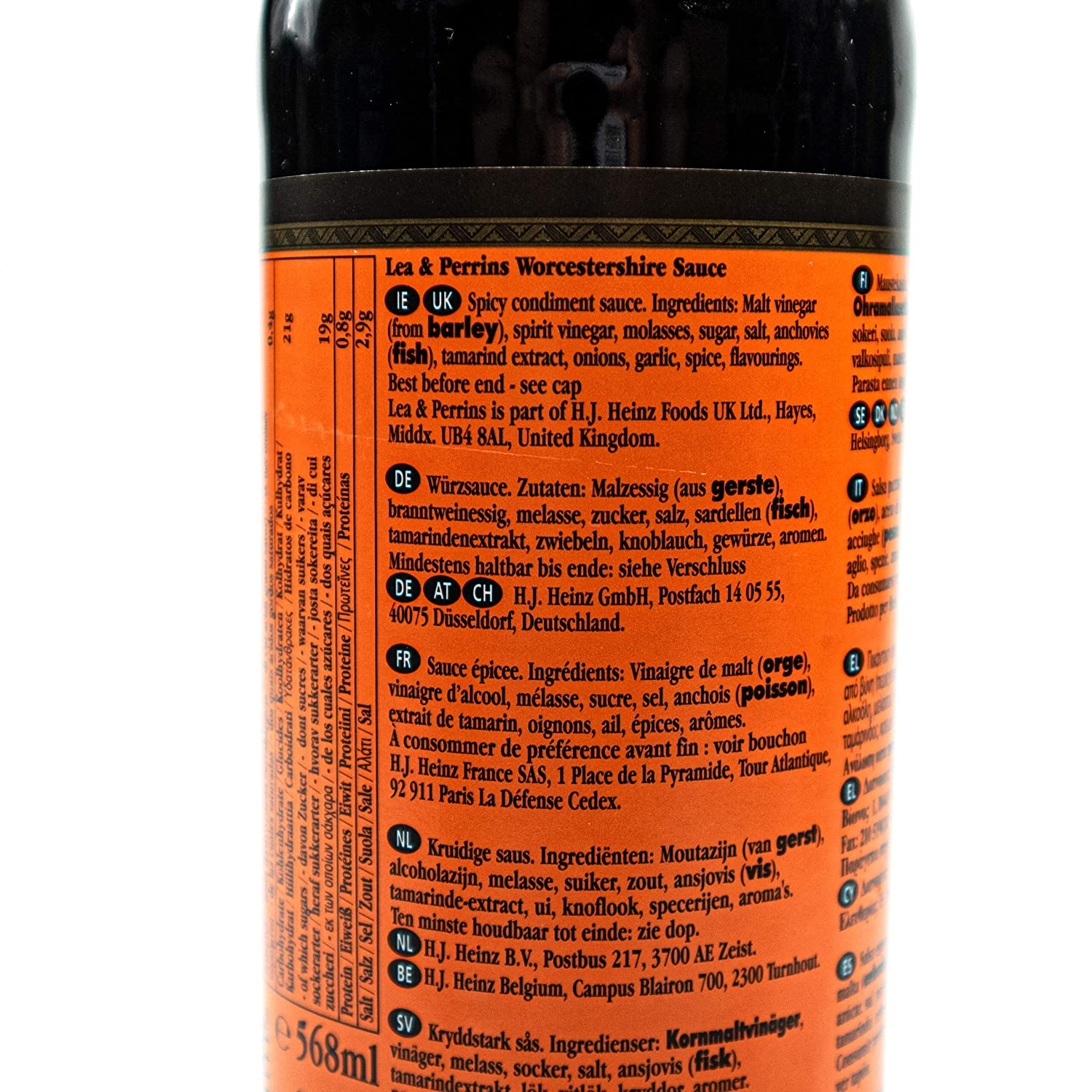 Lea Perrins 3er Pack Original Worcestershire Sauce In 568 Ml Glasflasche Wurzsauce Traditionell Englische Worcester Worcestersauce Amazon De Lebensmittel Getranke