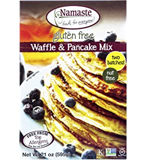Namaste Foods, Gluten Free Waffle & Pancake Mix, 21-Ounce Bags (Pack