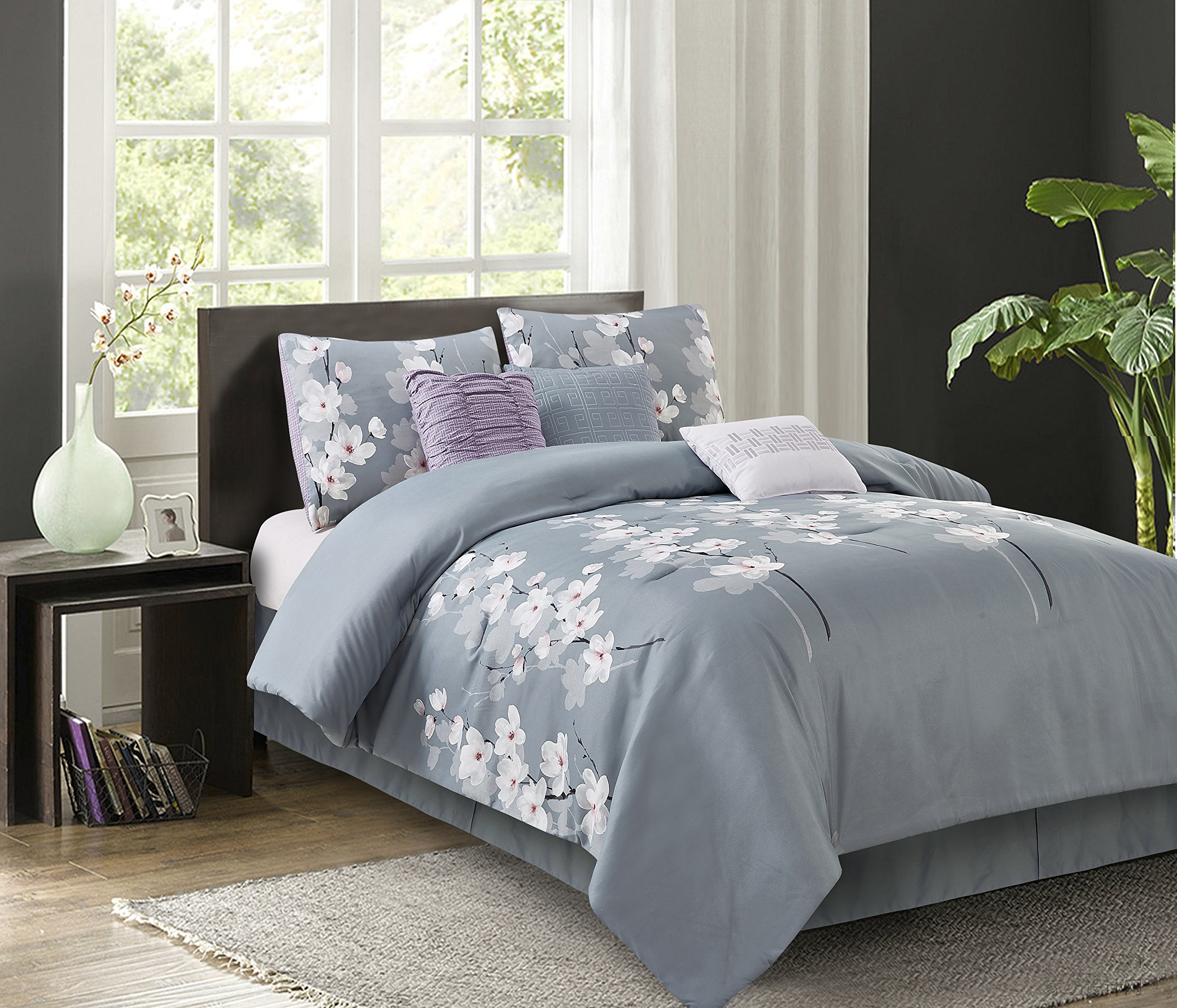 Isabel Grey 7-Piece Comforter Set