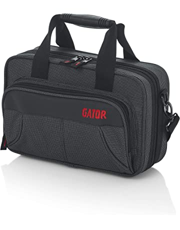 Gator Cases Lightweight Polyfoam Clarinet Case with Removable Strap and Rubber Interlocking Carry Handle; (