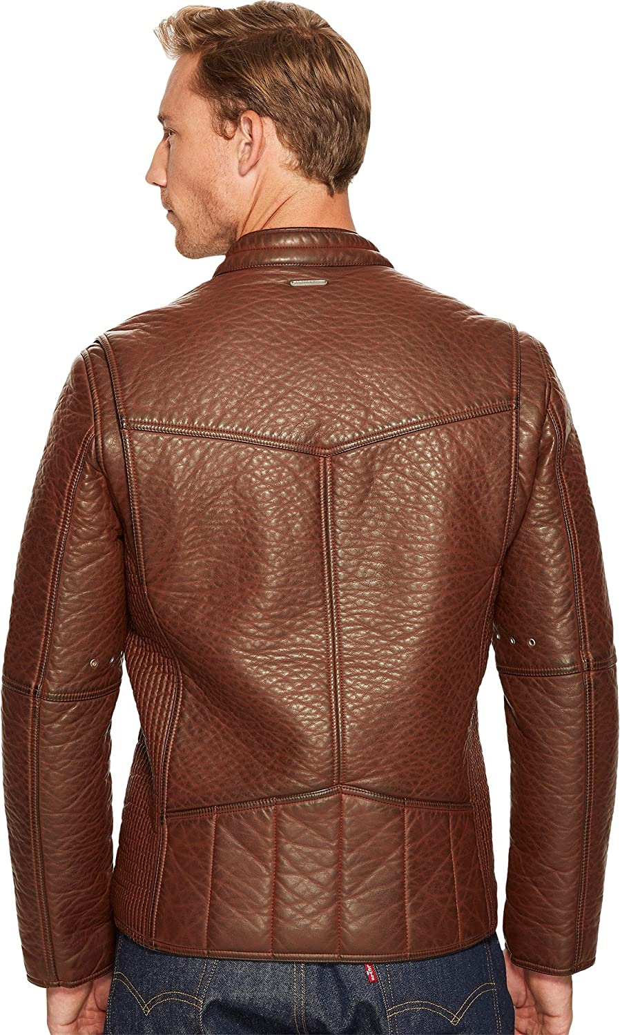 Marc New York by Andrew Marc Mens Dinsmore Faux Leather Moto Jacket