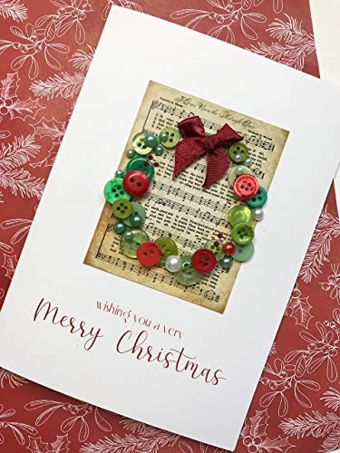 Christmas wreath handmade christmas greeting card amazon christmas wreath handmade christmas greeting card m4hsunfo
