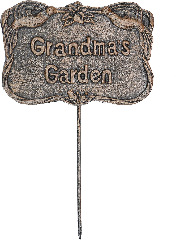 Oakland Living Decorative Garden Marker, Grandmas Garden, Antique Bronze